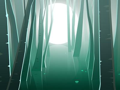 A forest inbetweening