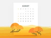 Calendar of August