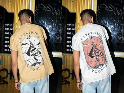 Elektric Voodoo Band Graphic Shirt clothing graphic design procreate graphicart bandmerch illustraion band shirt graphic tshirt design tshirt