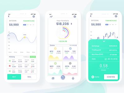 Crypto Wallet blockchain tracker dashboard bitcoin mobile cryptowallet cryptocurrency app crypto