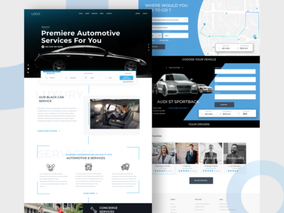 Automotive Service Web Page