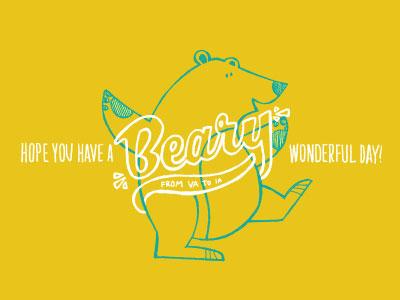 Beary Wonderful yellow bear