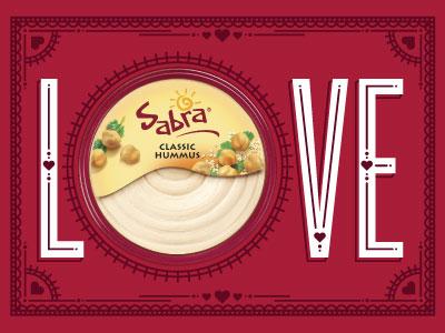Will You Be My Hummus Valentine? sabra valentine