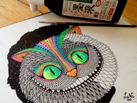 WIP Fan art, Alice in Wonderland Cheshire Cat.