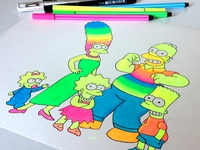 Coloring done! Simpsons fan art :)