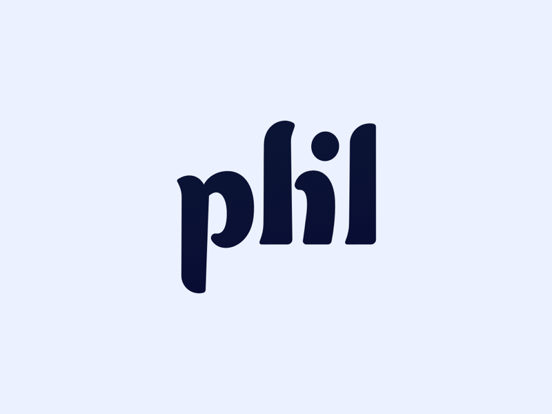 phl Monogram Logo typography monogram lettering logo