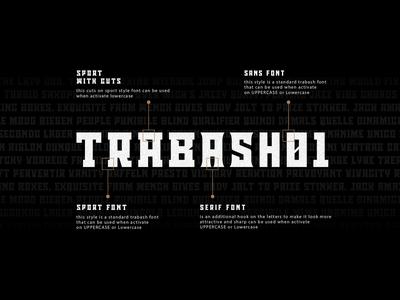 Trabash typeface