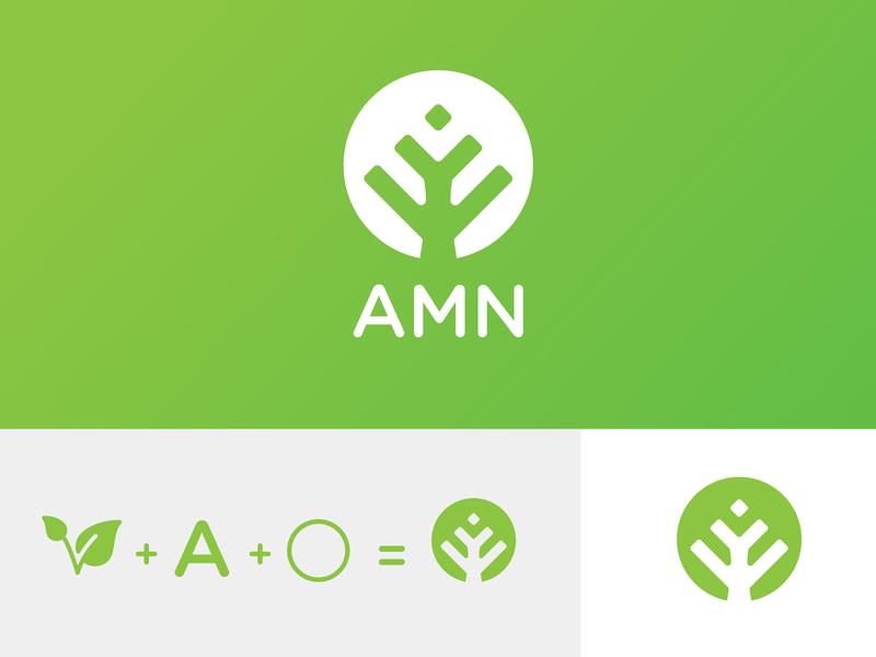AMN logo design icon design vector branding logo