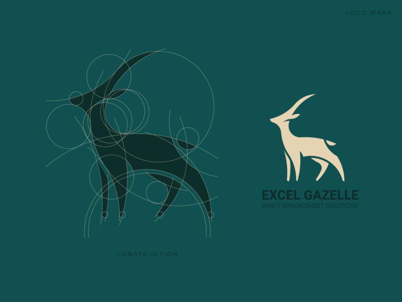 Deer logo circle grid eye catching elegant unique simple process golden ratio animal deer professional outstanding flat modern minimal logo illustration design custom creative amazing