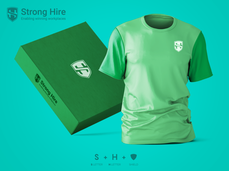 SH Logo unique beautiful wordmark top best popular simple shield professional flat outstanding logo illustration design modern minimal custom creative amazing