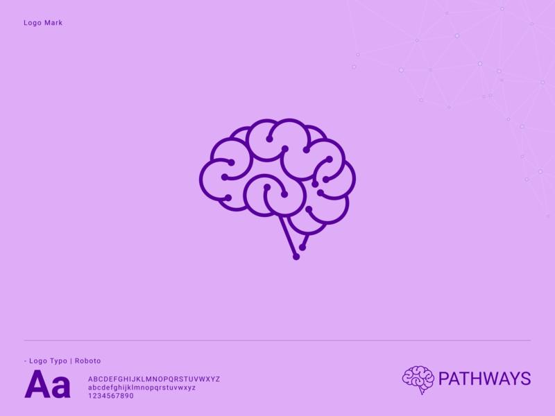 BrainTech Logo art icon simple brainstorm new outline cool tech brain professional flat outstanding logo illustration design modern minimal custom creative amazing