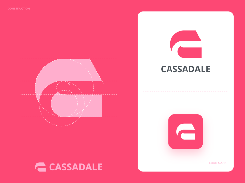 C Logo best simplicity android app icons lettering grid process goldenratio unique professional flat outstanding logo illustration design modern minimal custom creative amazing