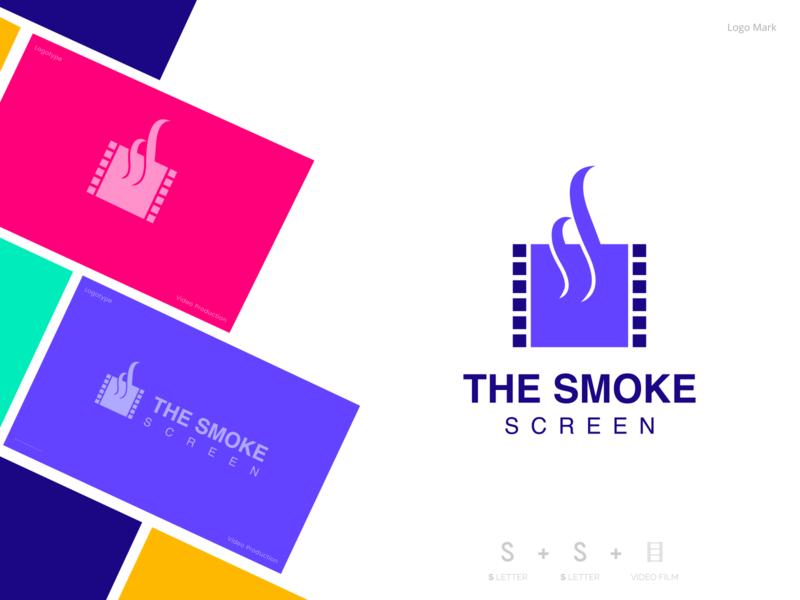 SmokeScreen Logo portfolio colorful presentation design videography camera screen smoke film video logo web app icon typography vector branding outstanding illustration amazing
