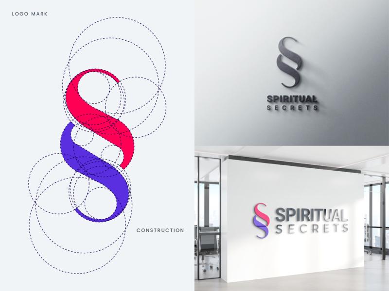 SS Logo minimalistic portfolio colorful presentation grid process golden ratio spiritual ss professional flat design outstanding modern minimal logo illustration custom creative amazing