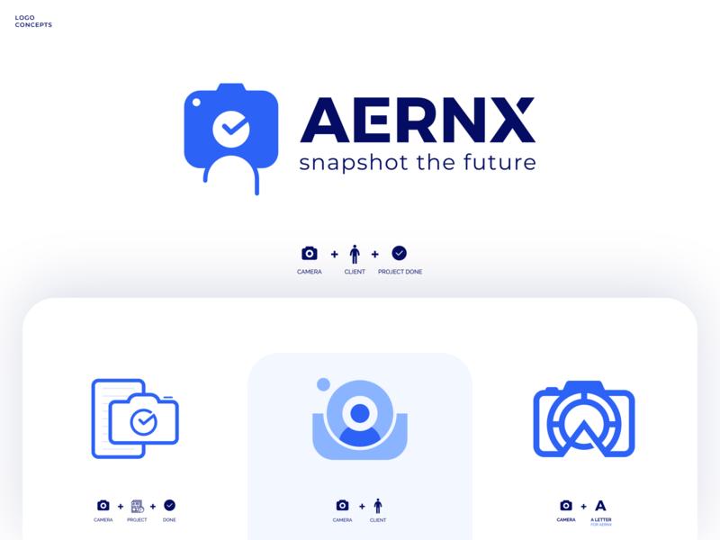 Aernx Logo popular trending best managment project concept client app camera professional outstanding modern minimal design custom logo creative illustration amazing