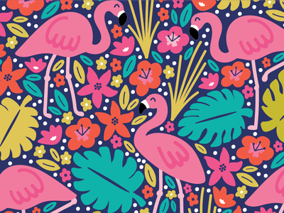 Flamingo Pattern vector design surface flamingos paradise tropical pattern flamingo