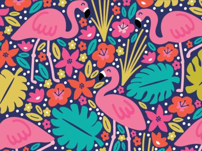 Flamingo Pattern vector design surface flamingos paradise tropical pattern flamingo