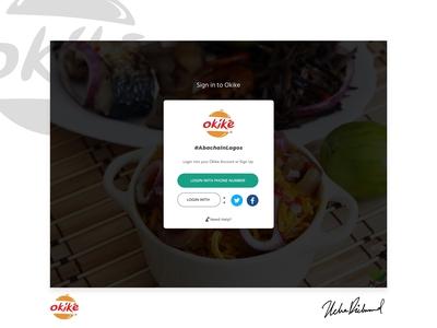 Okike Web UI - Login by Uche Richmond