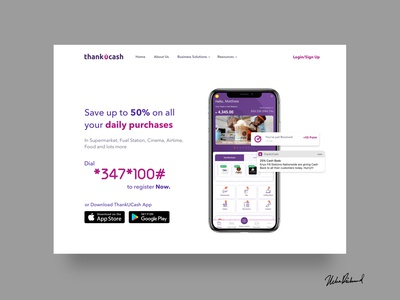 ThankUCash WEB UI by Uche Richmond