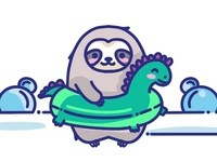 The swimming sloth