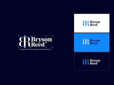 Logo design for real estate agency blue symbol logo mark typogaphy real estate realestate logo branding