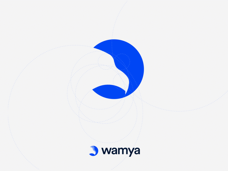Wamya: Hawk golden ratio logo delivery courrier transportation shape builder simple golden eagle co hawk blue logo golden ratio