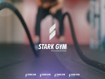 Stark Gym Logo mma rope flexible combat gym logo nutrition yoga branding logo sports app workout crossfit cross fit sports gym
