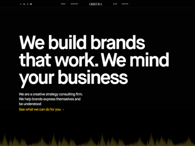Creative strategy consulting website