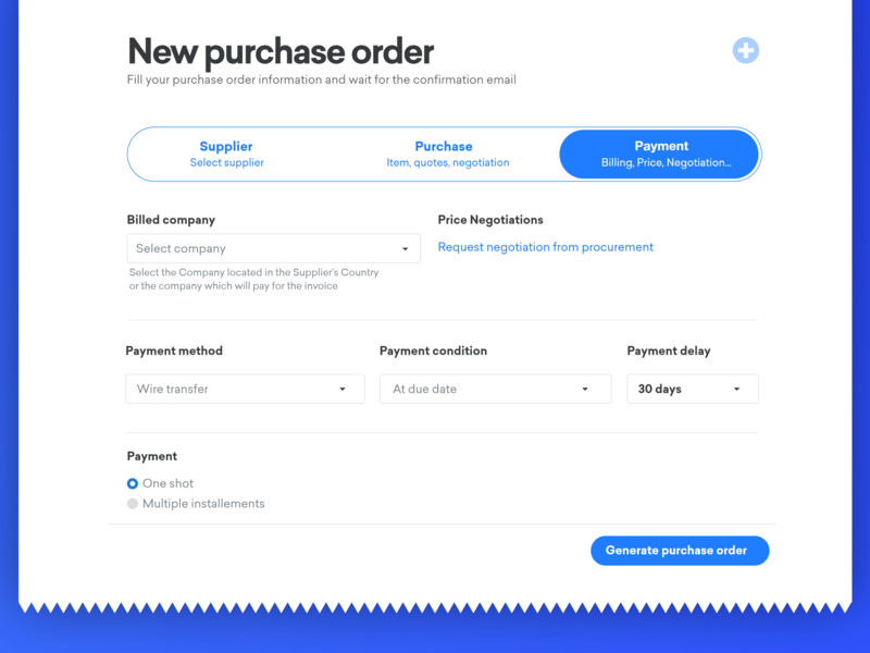 Purchase order application web design ux  ui uxui ux design font supplier billing payments payment purchase application wizard typography website platform adobe xd ui