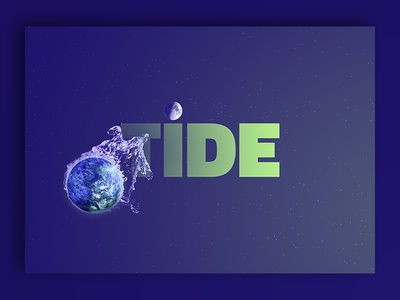 Photo Composition - TIDE IS HIGH photoshop photomanipulation photocomposition posterdesign poster splash sun tide space planets earth moon