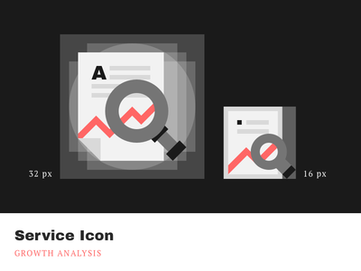 Service Icons - Growth Analysis cleandesign minimalistic simple pixelperfect iconography product icons service agrowth