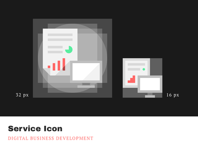 Service Icons - Digital business development businessdevelopment digital cleandesign minimalistic simple pixelperfect iconography icons service agrowth