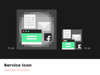 Service Icons - Channel Strategy cleandesign minimalistic simple pixelperfect iconography product icons service channels agrowth
