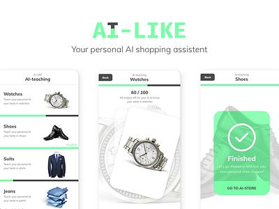 AI Concept - Personal Shopper clothes branding uxdesign uidesign ux ui shopping aiconcept concept ai