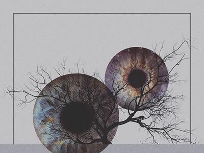 Horizon collage eye tree