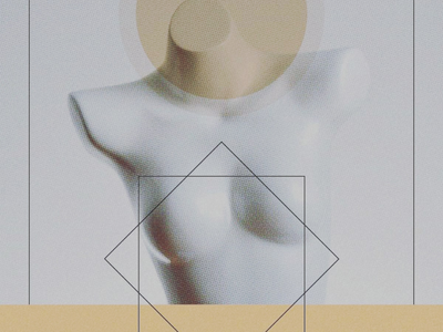 Horizon collage art torso holy