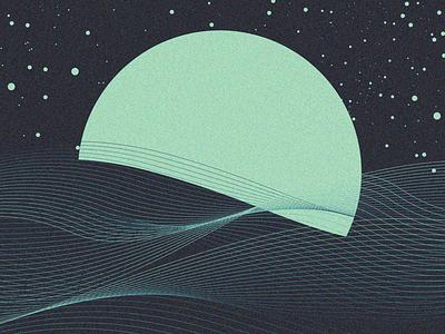 moon vector art illustration design