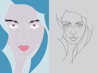 Billie Eilish Portrait music eyes ocean bored illustration fanarit portait eilish billie