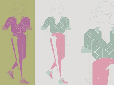 Fashion Illustration vector pastel illustraion fashion