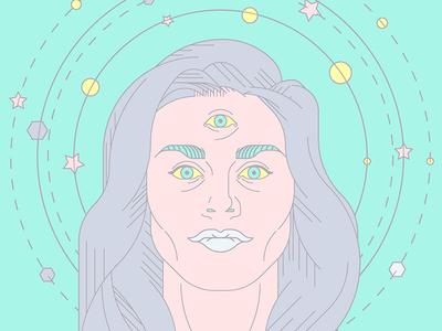frances bean cobain thirdeye eye third witch space visual graphic design visual art art portrait cobain frances bean cobain
