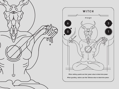 the witch game card