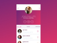 Cerise Linear Android  UI