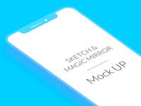 iPhoneX Flat Mockup