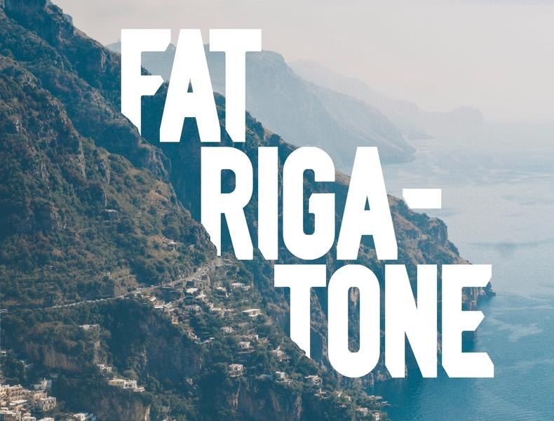 Fat Rigatone gianluca caico design pasta fat rigatone free font free download free otf ttf serif typeface sans serif font font sans serif branding logo illustration vector typography graphic design product design design