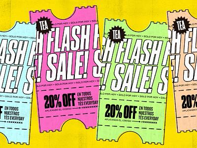 flash sale cupon ticket ecommerce discount colorful texture flash sale