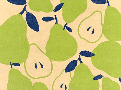 pears green pattern illustrtion natural verde fruta pera pear fruit