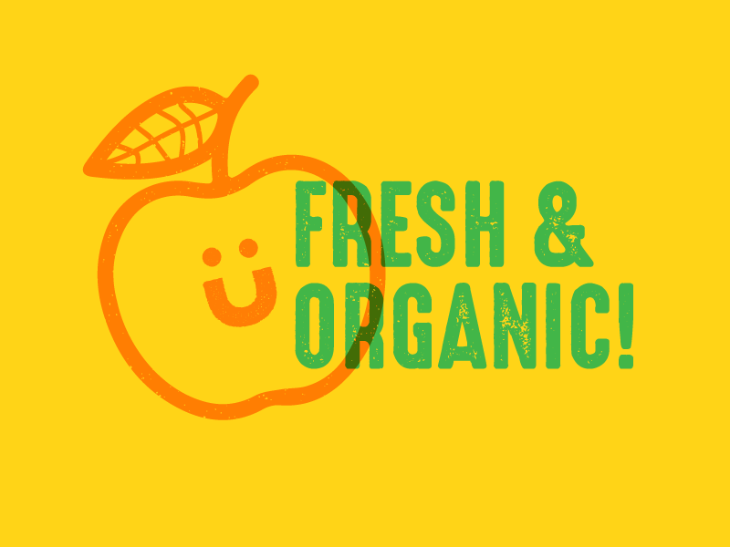 organic market design green vegetables brand plants food organic