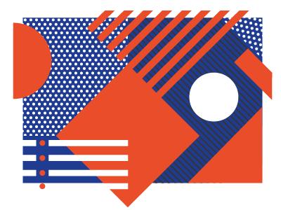 geometric postcard circles lines squares geometric
