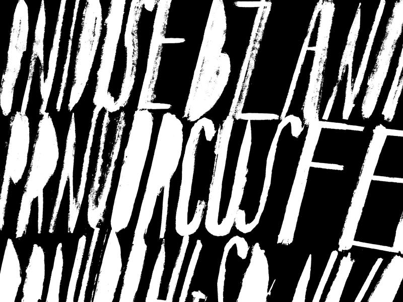 Type Experiment 1 grunge white black typography calligraphy handamada experimental type