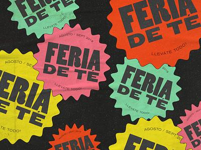 badges print type texture tea black fair logo badge colors colorful